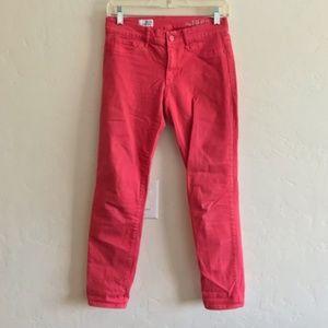 GAP Red Peach Cropped Legging Jeans Size 25 Reg